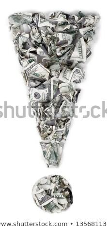 Erklärung 100 Rechnungen heraus isoliert Stock foto © eldadcarin