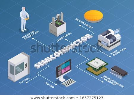 Microprocessor geïsoleerd witte technologie Stockfoto © cteconsulting