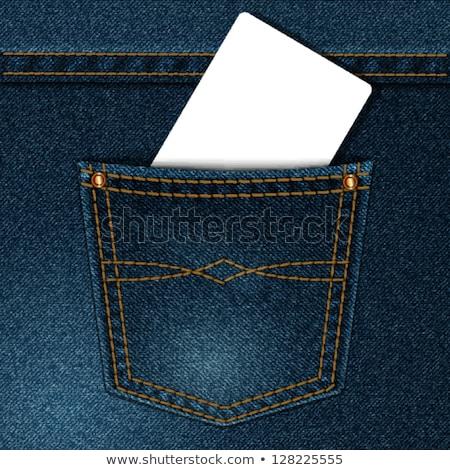 Stockfoto: Jeans · Blauw · zak · illustratie · vector · abstract