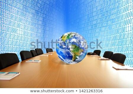 zakelijke · bijeenkomst · virtueel · ruimte · business · illustratie · ontwerp - stockfoto © HASLOO
