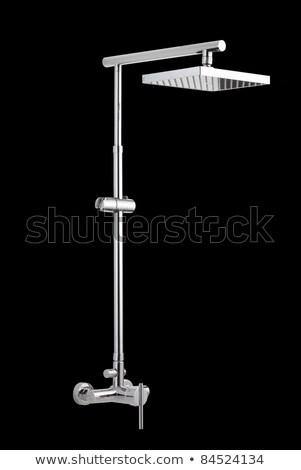 água · chuveiro · banheiro · fundo · branco - foto stock © johnkasawa