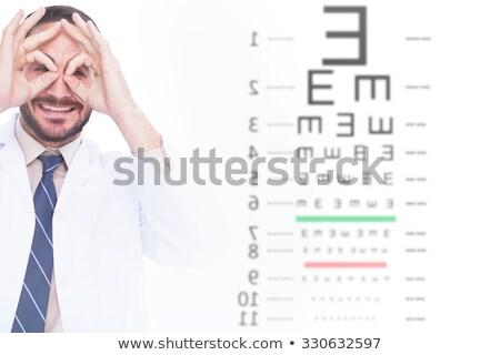 человека · врач · глупый · очки · медицинской · фон - Сток-фото © photography33