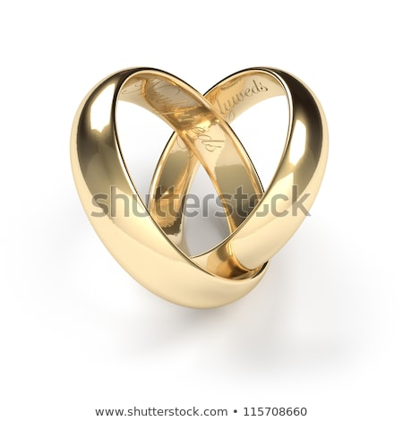 married couple with wedding rings and bands stock photo © tobkatrina