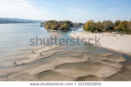 川 ビーチ 悲しい セルビア 人 日光浴 ストックフォト © dinozzaver