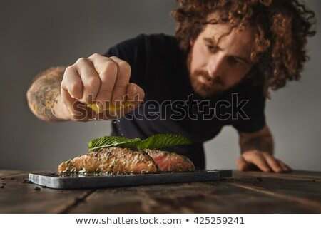 Man preparing plates Stock photo © doupix