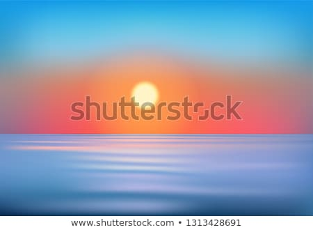 Sunrise over the pacific ocean and the end of the lake with refl Stock photo © dacasdo