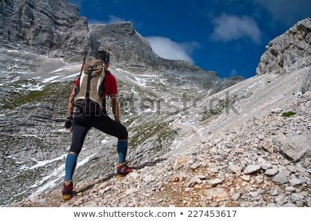 út hegy égbolt természet terv háttér Stock fotó © zzve
