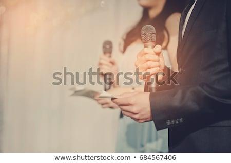 kettő · hangfalak · fehér · zene · technológia · csoport - stock fotó © zzve