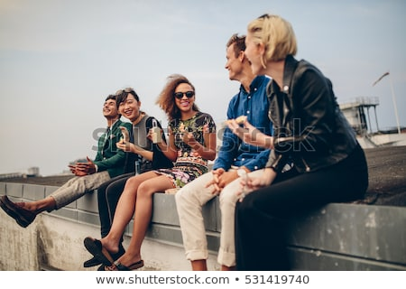 Young group of friends hanging out in the city Stock photo © photography33