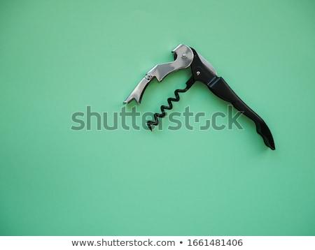 Korkenzieher isoliert weiß Tabelle bar Stock foto © gavran333