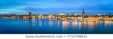 Tarihsel eski Stockholm İsveç gökyüzü Stok fotoğraf © RAM