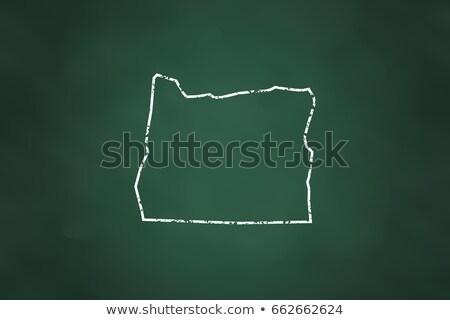 outline map of oregon on blackboard  Stock photo © vepar5