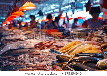 Pörkölt hal elad étel piac friss Stock fotó © leungchopan