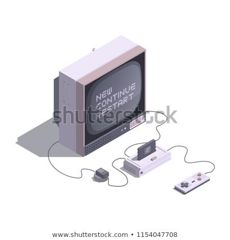 Oyun joystick izlemek piksel beyaz Stok fotoğraf © mayboro