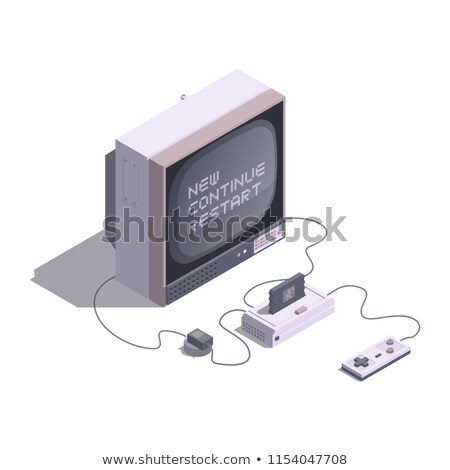 Jogo joystick monitor branco Foto stock © mayboro