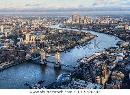 Fiume thames Londra panoramica view bianco nero Foto d'archivio © claudiodivizia