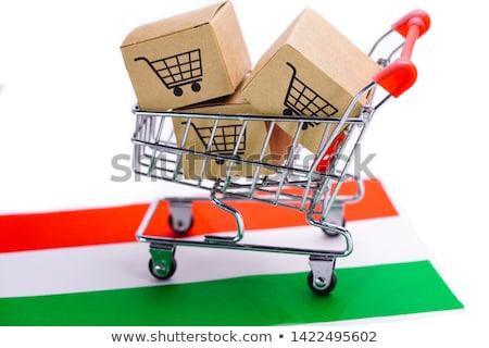 bezpłatna · wysyłka · karton · pakiet · wysyłki · celu - zdjęcia stock © tashatuvango