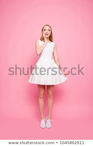 Full length image of excited aged lady Stock photo © stockyimages