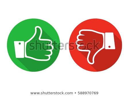 jak · nie · lubić · głosowania · kolorowy · ikona · biały - zdjęcia stock © elenarts