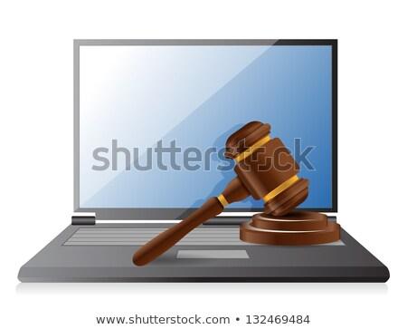 notebook computer representing internet auctions illustration de stock photo © alexmillos