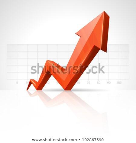 Affaires flèche graphique modèle signe marché Photo stock © designers