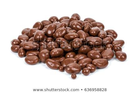 passas · de · uva · coberto · delicioso · chocolate · branco · tigela - foto stock © raphotos