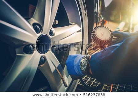 Autó autógumik 3D generált kép út Stock fotó © flipfine