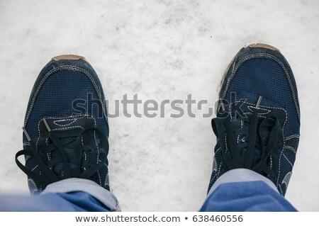 Hasta vista Foto moda hombre mirando hacia abajo Foto stock © feedough