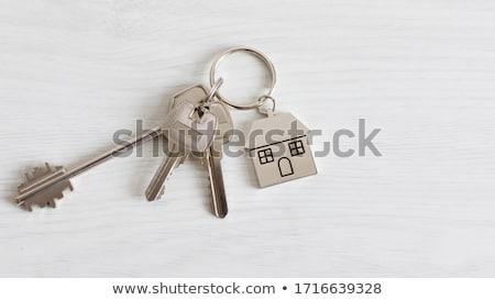 Kulcs 3D generált kép piros biztonság Stock fotó © flipfine