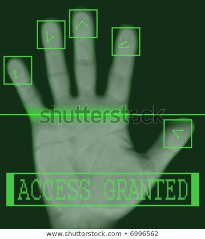 Biometric palm scanning screen with access granted Stock photo © alexmillos