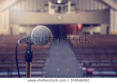 recording microphone for lead vocal on live gig Stock photo © feelphotoart