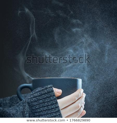 Mulher quente copo sopa café seis Foto stock © elvinstar