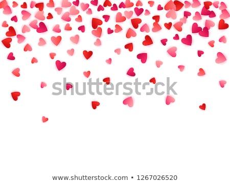 Rubin piros szív szív alak gyűjtemény értékes Stock fotó © Kacpura