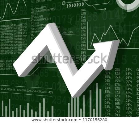 инфляция · вверх · вниз · слово · оказанный · 3D - Сток-фото © ottawaweb