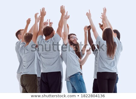 International business team showing unity with their hands toget Stock photo © HASLOO