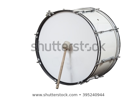 bas · trommel · 3d · illustration · witte · muziek · metaal - stockfoto © ozaiachin
