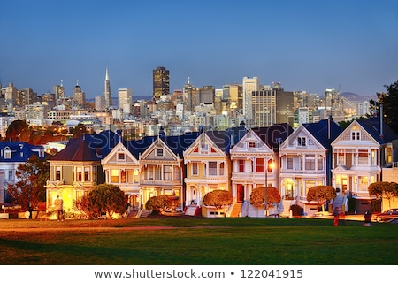 Painted Ladies Residential Homes Alamo Park San Francisco Stock photo © cboswell