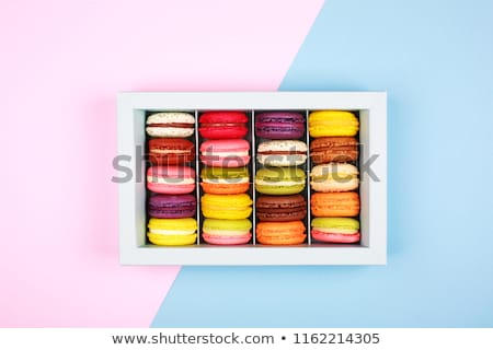 Colorful macaroons in red box Stock photo © BarbaraNeveu