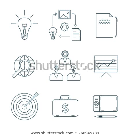 Writer icon on white background. Stock photo © tkacchuk