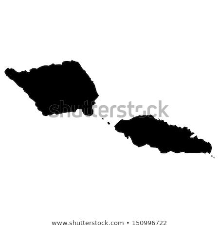 Mapa Samoa botão bandeira símbolo branco Foto stock © mayboro1964