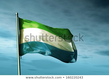 sierra leone flag map Stock photo © tony4urban