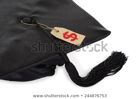 Black Graduation Cap With Tassel And Price Tag Stock photo © AndreyPopov