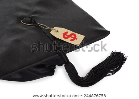 black graduation cap with tassel and price tag stock photo © andreypopov