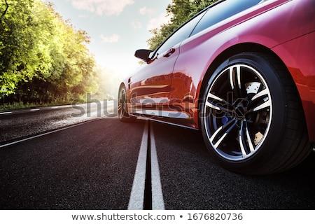 красный автомобилей скорости Blur дороги дизайна Сток-фото © carloscastilla