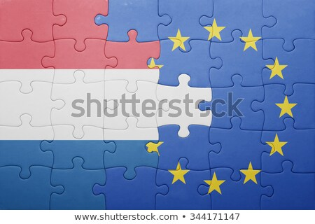 European Union and Netherlands Flags in puzzle  Stock photo © Istanbul2009