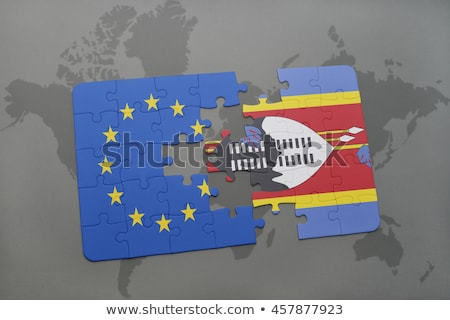 European Union and Swaziland Flags in puzzle Stock photo © Istanbul2009