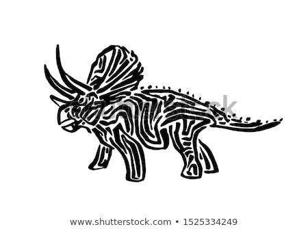 Oude uitgestorven dinosaurus licht model mond Stockfoto © OleksandrO