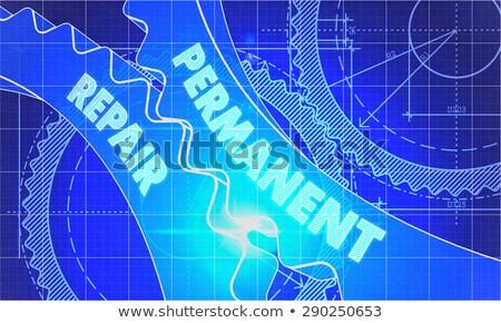 machines · engineering · blauwdruk · technische · tekening - stockfoto © tashatuvango