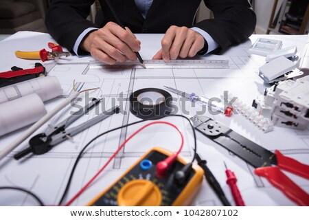Technician Holding Worktool And Laptop Stock photo © AndreyPopov