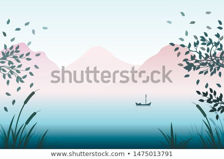 fog and mist on a colorful lake shore stock photo © wildnerdpix